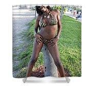 Tiger Strips Shower Curtain