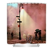Tiger Suanters The Sloggy Evening Urban Landscape Shower Curtain
