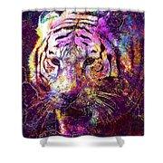 Tiger Surreal Painting Predator  Shower Curtain