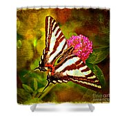 Zebra Swallowtail Butterfly - Digital Paint 3 Shower Curtain