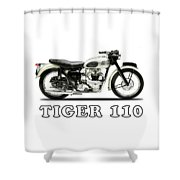 Tiger T110 1957 Shower Curtain