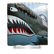 Tiger Teeth Shower Curtain