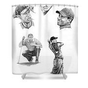 Tiger Woods- Full Circle Shower Curtain