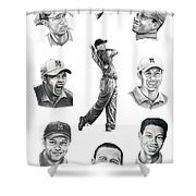 Tiger Woods-murphy Elliott Shower Curtain