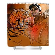 Tiger Woods Or Earn Your Stripes Shower Curtain