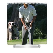 Tiger Woods P Shower Curtain