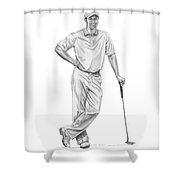 Tiger Woods-putter-murphy Elliott Shower Curtain