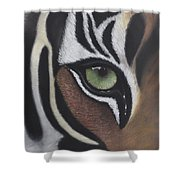 Tiger's Eye Shower Curtain