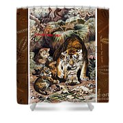 Tigers For Responsible Tourism Shower Curtain