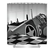 Tigers Row Shower Curtain