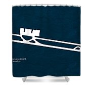 Tij Tijuana International Airport In Tijuana Mexico Runway Silho Shower Curtain