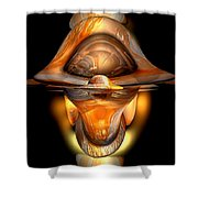 Tiki Abstract Shower Curtain