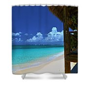Tiki Hut Shower Curtain