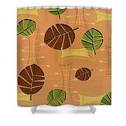 Tiki Lounge Wallpaper Pattern Shower Curtain