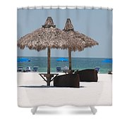 Tiki On The Gulf Shower Curtain