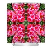 Tiki Tulip Mandala Shower Curtain