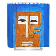 Tikki Mask  Shower Curtain