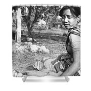 Tilak Devi 1985 Shower Curtain