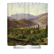 Tile Fjord Shower Curtain