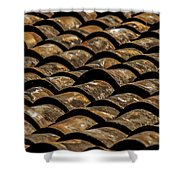Tile Roof 2  Shower Curtain