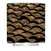 Tile Roof 3 Shower Curtain