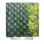Tile Wall Of The Ringling Museum Asian Art Center Shower Curtain