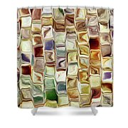 Tiled Abstract Shower Curtain