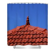 Tiled Roof Near Ooty, India Shower Curtain