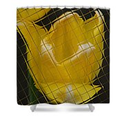 Tiled Yellow Tulip Shower Curtain
