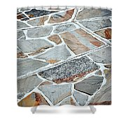 Tiles From Sandstone Quarried Stone Shower Curtain