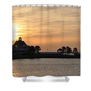 Tilghman Island Marina At Sunrise Shower Curtain