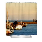 Tilghman Island Maryland Shower Curtain