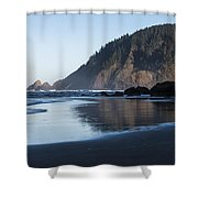 Tillamook Head Reflection Shower Curtain