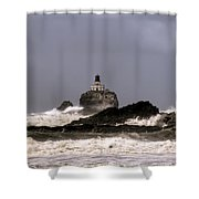 Tillamook Lighthouse Shower Curtain