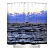 Tillamook Rock Lighthouse Shower Curtain