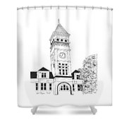 Tillman Hall Shower Curtain