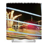 Tilt-a-whirl 2 Shower Curtain