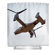 Tilt Rotor Helicopter #1 Shower Curtain