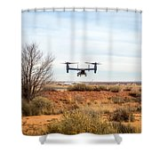 Tilt Rotor Helicopter #2 Shower Curtain