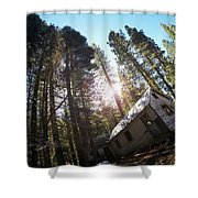 Tilted House, Real Estate Series Shower Curtain