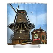 Tilting At Windmills In Amsterdam Shower Curtain