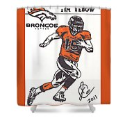 Tim Tebow 1 Shower Curtain by Jeremiah Colley