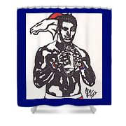 Tim Tebow 2 Shower Curtain by Jeremiah Colley