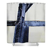 Timber Framing Detail Shower Curtain