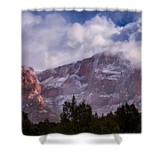 Timber Top Mountain Shower Curtain