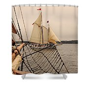 Timberwind Off The Bow Shower Curtain