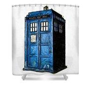 Time And Relative Dimension In Space Shower Curtain