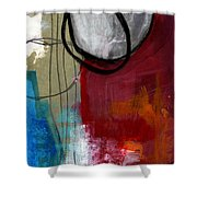 Time Between- Abstract Art Shower Curtain