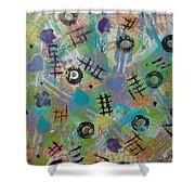 Time Bonding  Pc.1 Shower Curtain