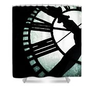 Time - Bromo Seltzer Tower, Baltimore Shower Curtain by Marianna Mills